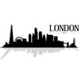 city london skyline silhouette vector image