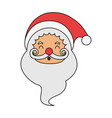 color image cartoon front view face santa claus vector image vector image