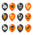 Colorful balloons for Halloween party vector image vector image