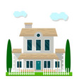 colorful residential building with garden isolated vector image vector image
