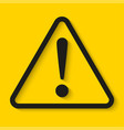 danger sign on yellow background vector image vector image
