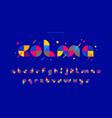 decorative geometric modern minimal font vector image