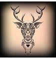 Deer head Ethnic pattern vector image vector image