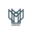 design geometric logo for company vector image vector image
