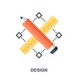 design icon concept vector image vector image