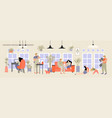 family spending time at home concept vector image
