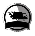 fast food delivery emblem icon vector image vector image