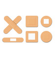 first aid medical bandage or patch adhesive vector image vector image