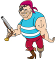 funny pirate cartoon vector image vector image