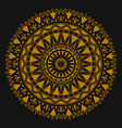 golden ornament mandala for business printing vector image vector image
