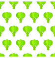 green broccoli seamless organic vegetable pattern vector image