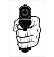 Hand pointing with the gun at you vector image vector image