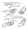 hands manual graphics simple vector image vector image