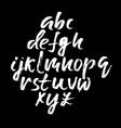 Handwritten modern dry brush lettering vector image
