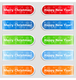 Happy new year and Christmas tabs vector image vector image