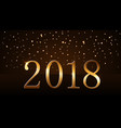 happy new year background gold rain 2018 vector image