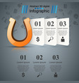 horseshoe 3d icon - business infographic vector image vector image