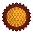 jam biscuit icon flat style vector image vector image