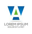 letter sales blue symbol vector image