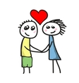 Love between boy and girl vector image