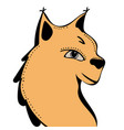 lynx cute funny cartoon head vector image vector image