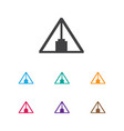 of camping symbol on triangle vector image vector image