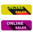 Online sales a set of banners of two pieces