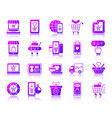 online shop simple gradient icons set vector image vector image
