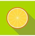 Orange slice icon flat style vector image