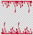 paint drop abstract red blood on vector image