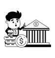 people online banking vector image vector image