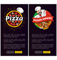 pizza house collection web vector image vector image