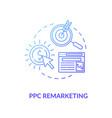ppc remarketing concept icon vector image vector image