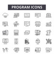 program line icons signs set outline vector image vector image