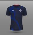 realistic soccer shirt usa away jersey template vector image