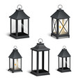 realistic vintage lantern on a white vector image vector image