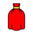 santa bag isolated red sack full for gift vector image