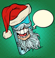 santa claus communicates via smartphone vector image