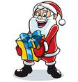 santa gift 2 vector image vector image