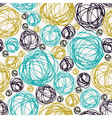 Seamless doodle summer background vector image vector image