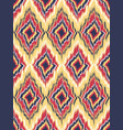 seamless pattern tribal art ikat ogee vector image vector image