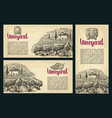 set horizontal vertical and square posters or vector image vector image