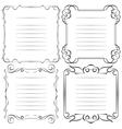 set of frames menu vector image vector image