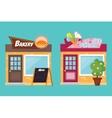 Shop facade elements set vector image vector image