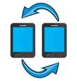 Smart phone communication vector image