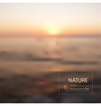 Sunset blurred photo background vector image vector image