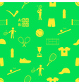 tennis sport theme seamless green pattern eps10 vector image vector image