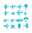 flat design plane set vector image