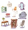 Set of cute furniture vector image