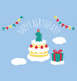 2 years old birthday card vector image